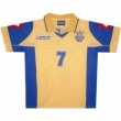Home, Replica Soccer Jersey of Ukrainian National Team. Short Sleeve #7 Shevchenko
